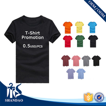 Guangzhou Wholesale Unisex 180g 100% Cotton Short Sleeve Round Neck Custom Logo Printed T Shirts in Bulk