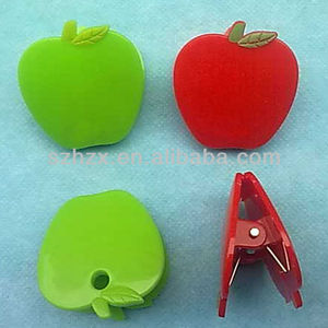 cute tiny durable pp plastic apple shape clips