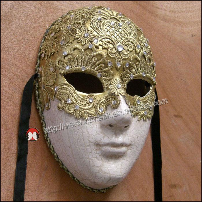 Tam Yüz Seks Dantel Kağıt Larva Karnaval Maskeleri Güzel Maskeli