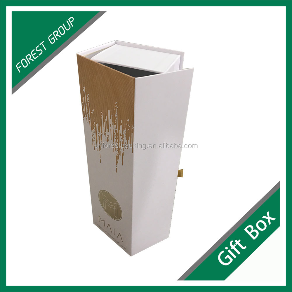 Accept small order brand name printed packaging paper magnetic closure gift box