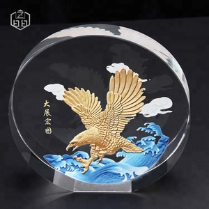 Wholesale Award Trophy Promotional Gift Crystal Eagle Figurine