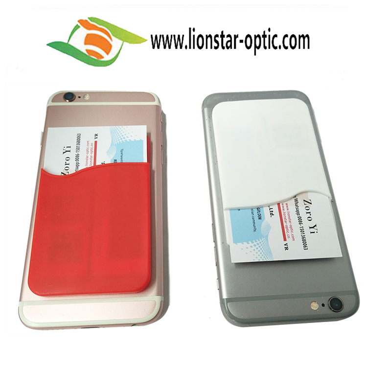 Factory Wholesale Printing Customized Silicone Cell Phone Card Holder Gift Promotional 3M Cell Phone Card Wallet