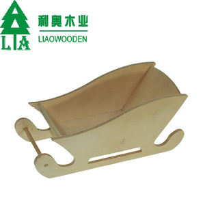 Christmas decorations winter wooden sleds Handicraft Snow Sled