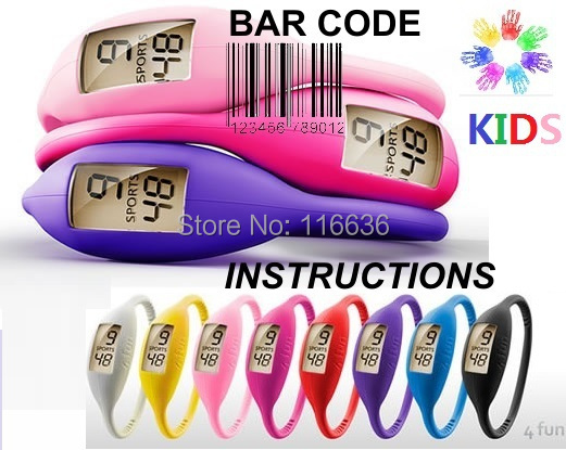 100pcs Ion Watches Silicone Children watch KIDS Silicon Bracelet Jelly Rubber Teen Slim Fashion Girl Gift Wholesale LOT