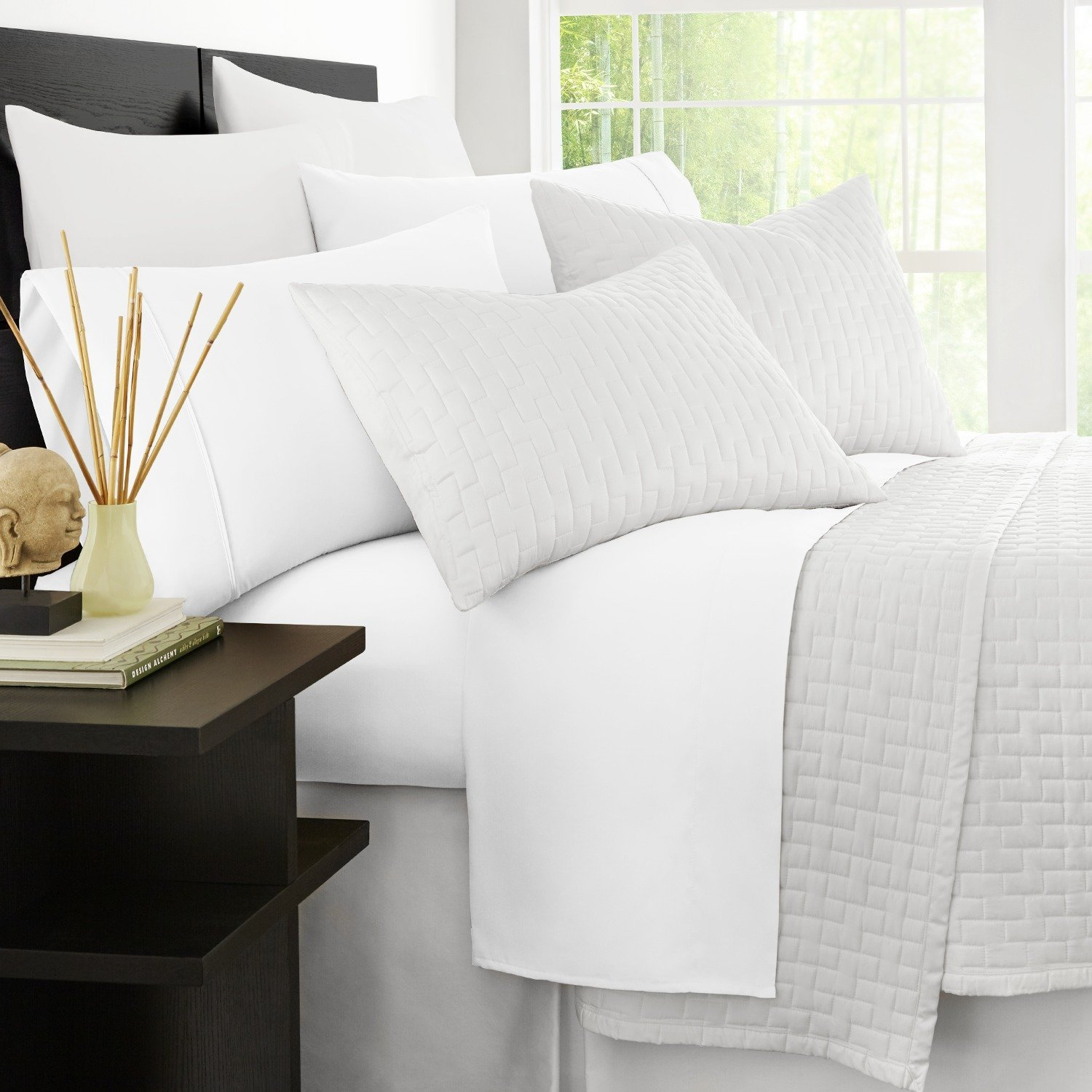 Get Quotations · Zen Bamboo Luxury Bed Sheets   Eco Friendly,  Hypoallergenic And Wrinkle Resistant Bamboo