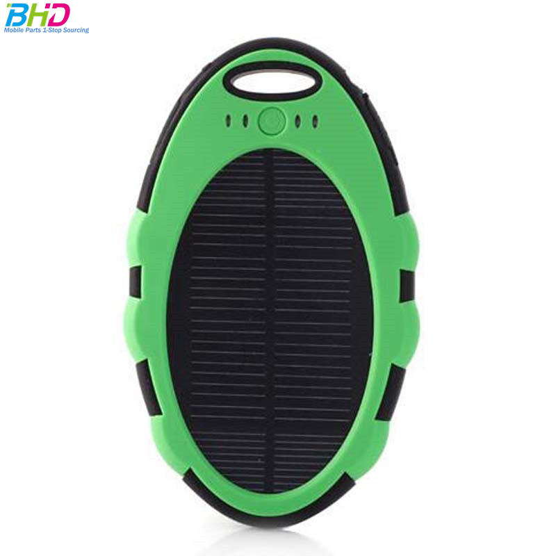 New waterproof solar charger power bank 5000 mah solar back power for all kinds of smart phones