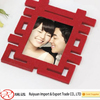 Top selling in the year Happy character shape felt photo frame for wedding decoration