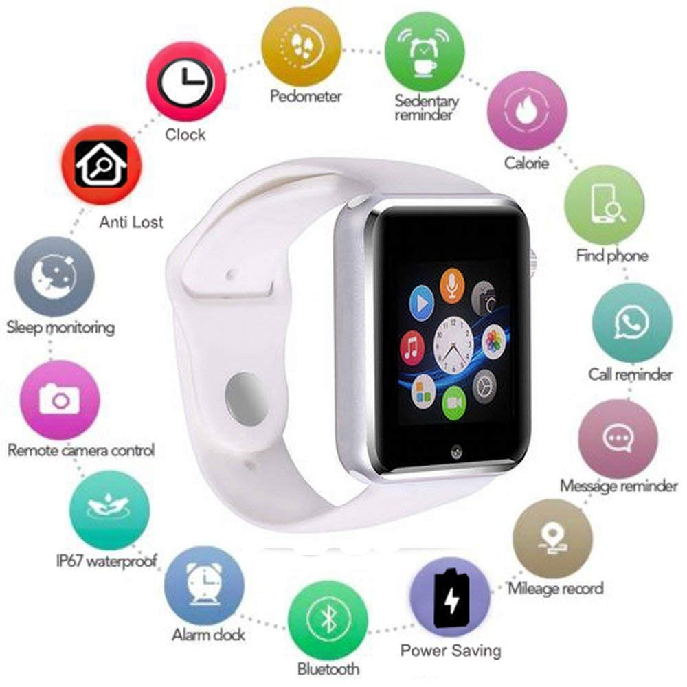 BLUETOOTH SMART WATCH Touchscreen with Camera Unlocked Watch Cell Phone Smart White Wrist Watch Waterproof Smartwatch Phone