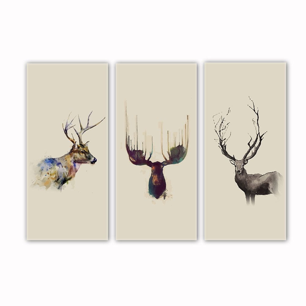 VV ART Deer Nordic Style Painting Canvas Modern Wall Art Picture Home Decoration Living Room Canvas Print Painting-Large Canvas Contemporary Landscape Framed Ready to hang