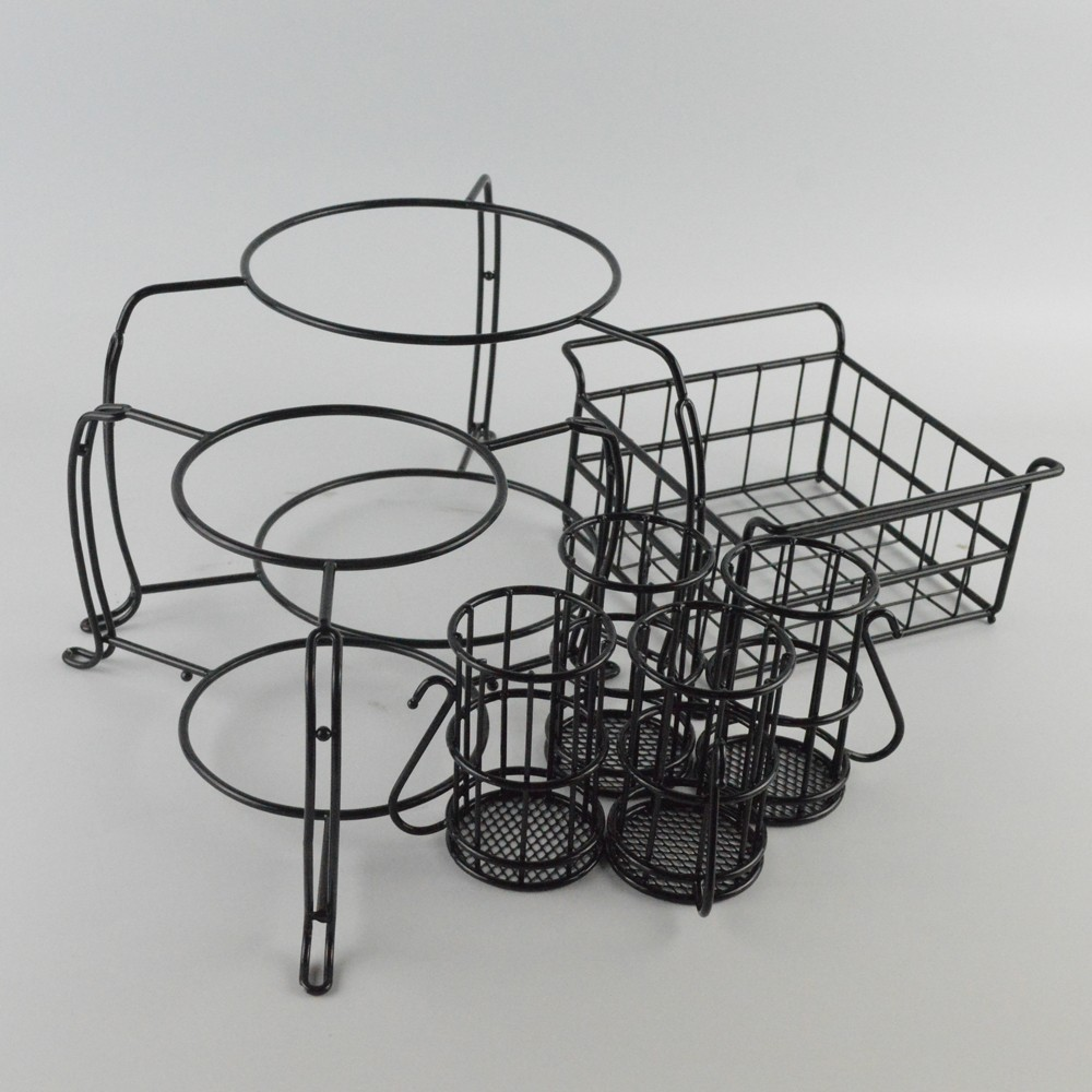 Lower Price Sell Metal Stackable Buffet Caddy Buffet Dispaly Rack Set Of 7 pieces / Have Stock