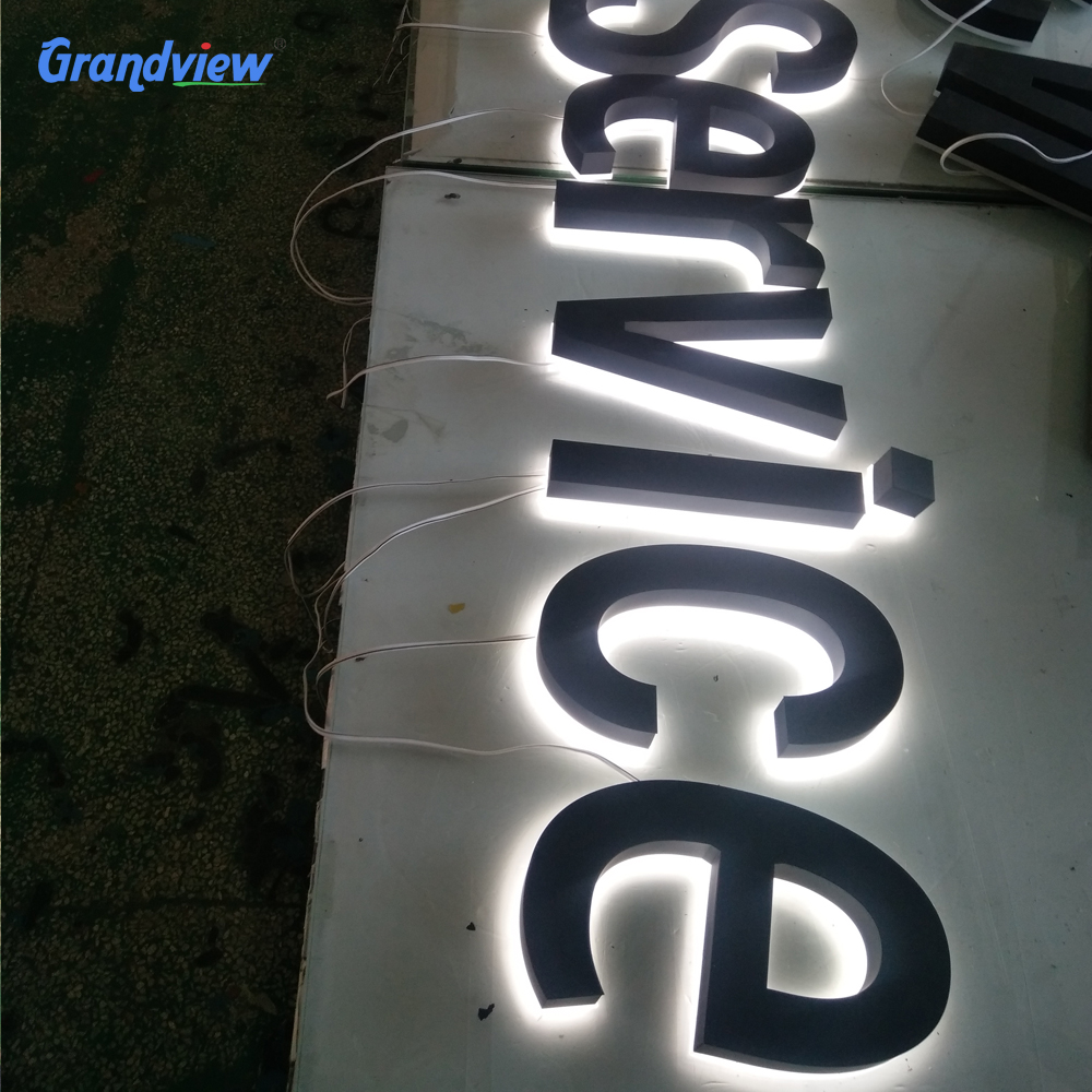 letter board custom shop design plate stainless steel acrylic 3D backlit letter led channel letter