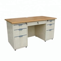 Steel Office Furniture MDF Desktop Metal Office Table