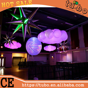 Inspiration Unique Decor Event Festival Ideas Inflatable Hanging Led Lighting Cloud Balloon Decoration For