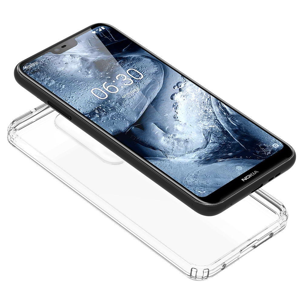save off 81d9f 4ad59 Transparent Back Cover Hybrid Tpu Pc Shockproof Case For Nokia 6.1 Plus /  X6 2018 - Buy Case For Nokia 6.1 Plus,Case For Nokia X6,Tpu Pc Case Product  ...