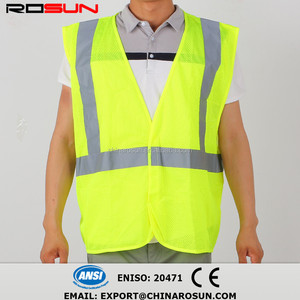 cycling glow gear yellow usa fr reversible reflector traffic safety vest with pocket high visibility vest Chalecos de seguridad