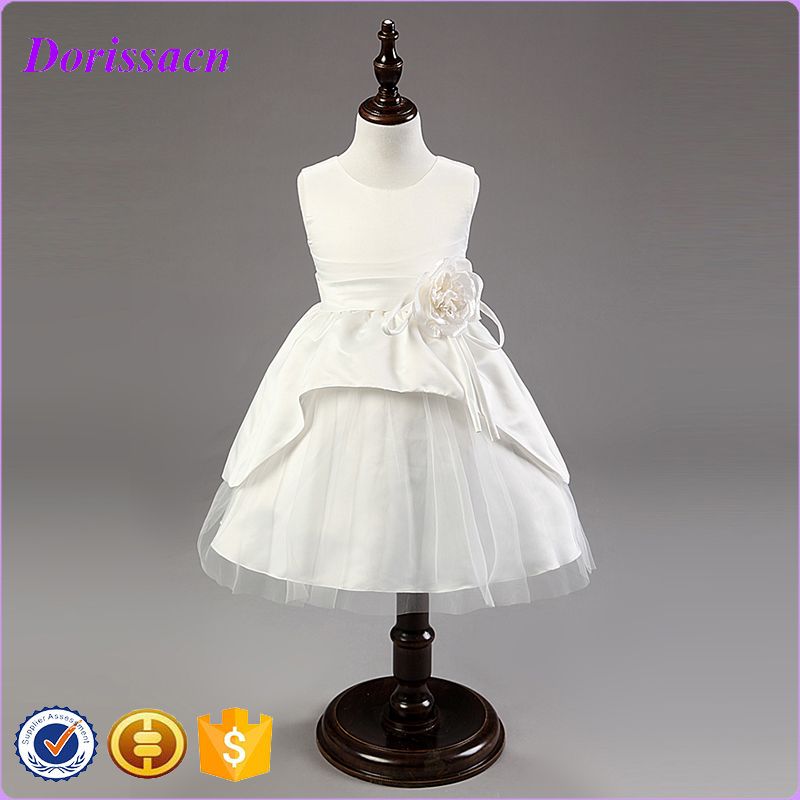 New Victorian Flower Girl Dresses Sleeveless Wedding Party Dresses For Girl Kids Clothing 6 Colors C-24