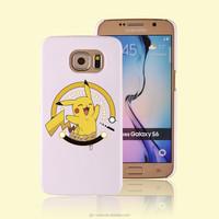 cartoon printing plastic phone case for S6 for pokemon go