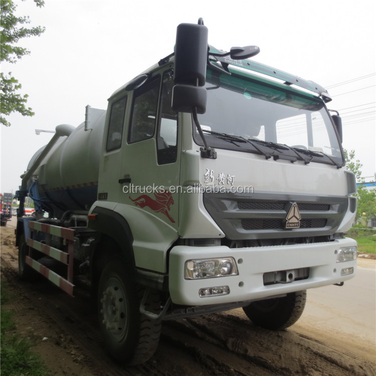 2017 hot sale sinotruk high 12000l vacuum sewage tanker