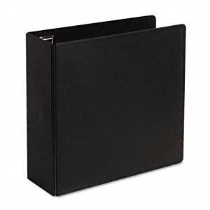 Cardinal : Heavy-Duty EasyOpen Slant D-Ring Binder, 4in Capacity, Black -:- Sold as 2 Packs of - 1 - / - Total of 2 Each