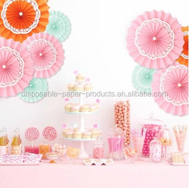 2015 Yiwu Birthday Party Idea Paper Rosettes Pinwheel Diy Backdrop