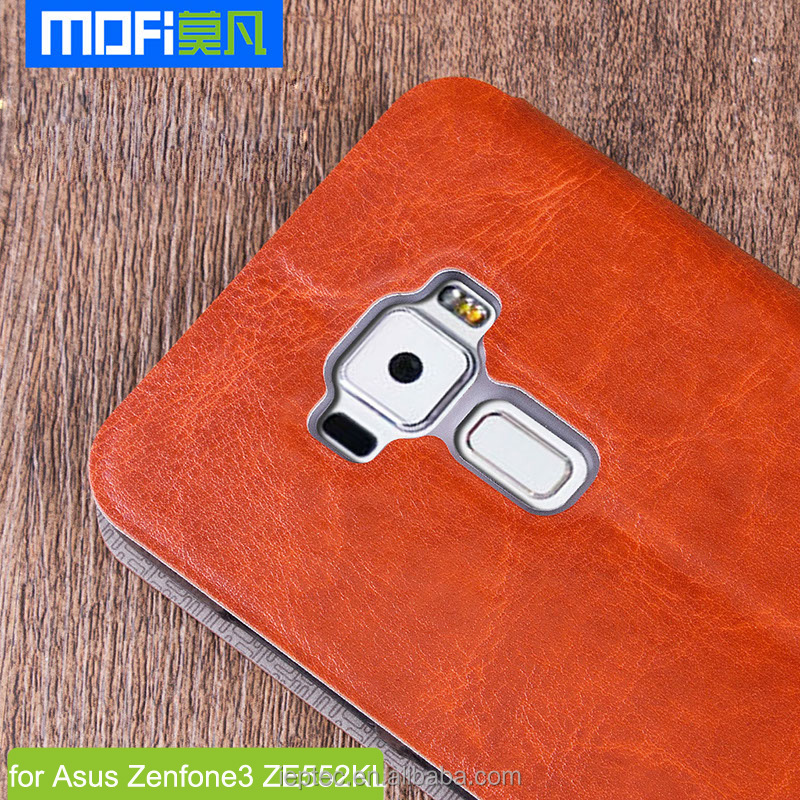 MOFi Original PU Leather Case Housing for Asus Zenfone 3 ZE552KL, Celulares Flip Cover for Zenfone3 Z010D