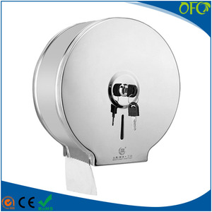 OFC stainless steel jumbo roll tissue dispenser toilet paper dispenser