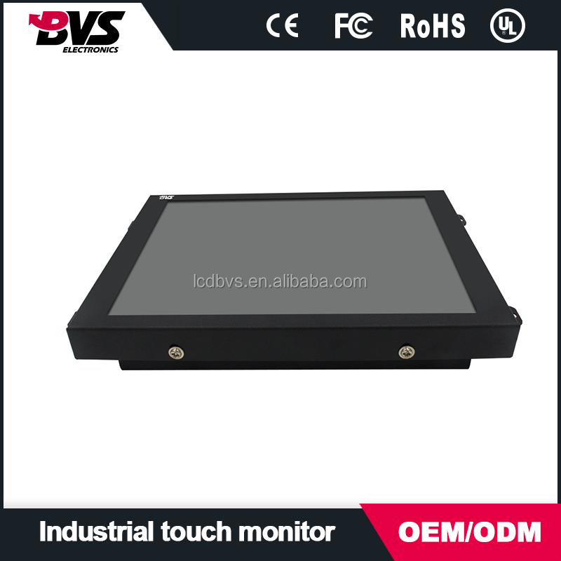8 inch lcd industrail monitor with resistive/SAW/IR/PCAP touch screen optional LED backlight energy saving