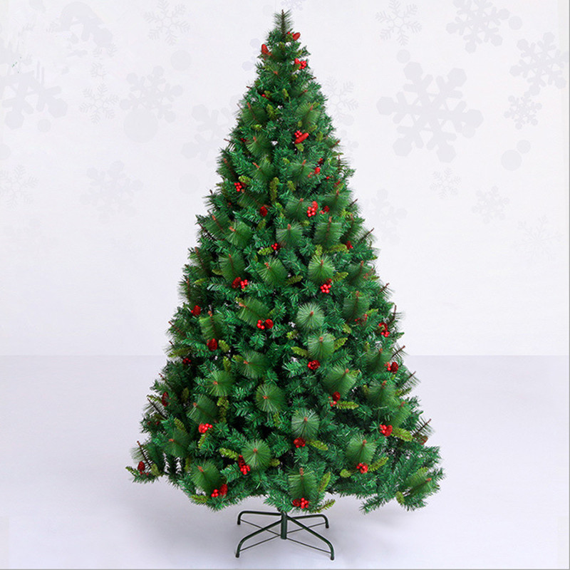 Red Red Pine Christmas Tree: 2.4 M / 240cm Luxury Encryption Christmas Tree Red Pine