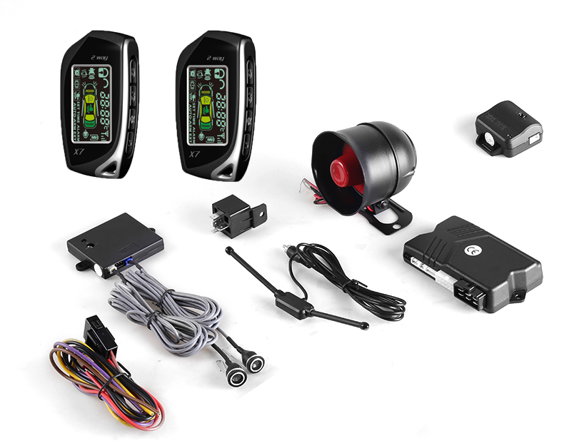 Spy two way car keyless entry remote engine start stop car security system