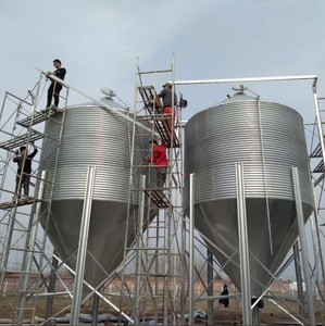 Poultry feeding system silo for pig house, poultry farm silo
