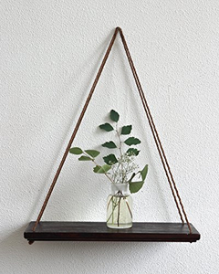 Rustic Wood Floating Hanging Plant Holder for wall decor