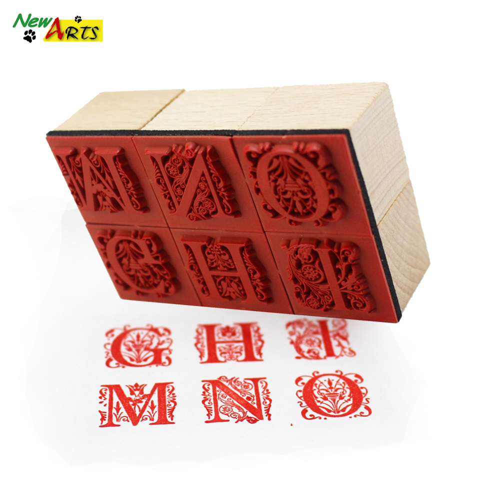 Personalized Rubber Craft Alphabet Stamps
