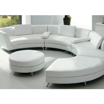 Modern Foshan C Shaped Sofa Set Round