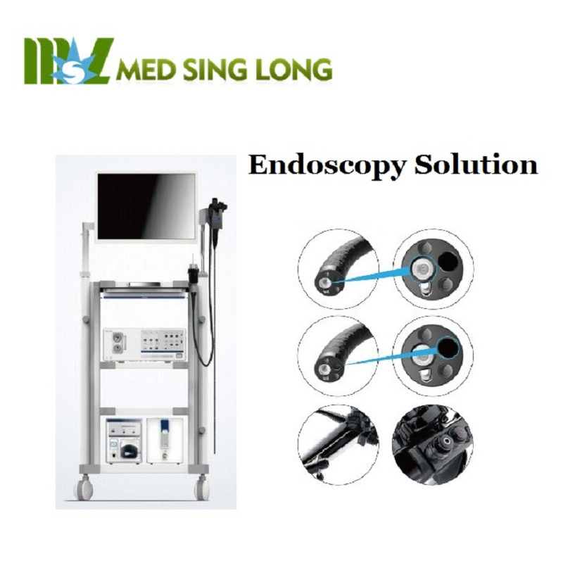 Endoscopy solution combo system with LED lamp, electronic gastroscope for hospital use