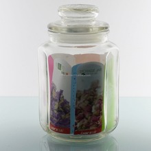 Promotion glass transparent airtight canister set