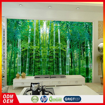 Bamboo Forest Tv Wall Wallpapers 3d Wall Murals Chinese Pastoral