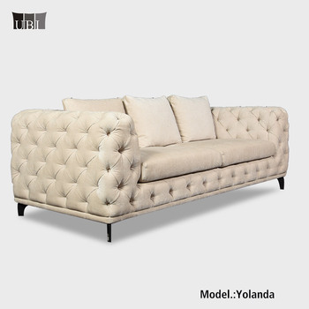 2018 Button Tufted Hotel Sofa Hotel velvet chesterfield sofa Sale Yolanda