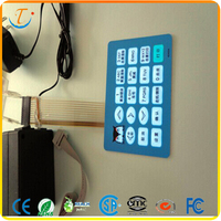 OEM Electrical Push Buttons Backlit Membrane Switches