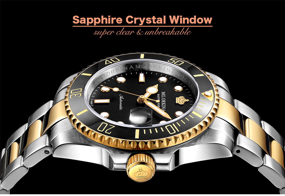Stainless Steel 316L Auto Date Men's Mechanical Watches Diving Waterproof 30M Business 40MM Automatic Luminous Watch