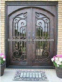 Bisini Luxury Design Grill Wrought Iron Entry Door (bg90070)
