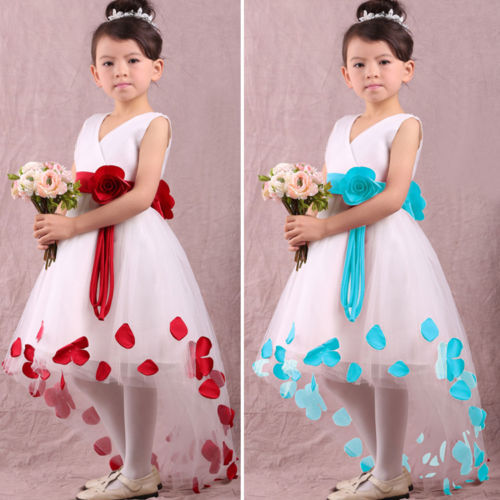 Details about Baby Girls Kids Princess Flower Petals Party Fantasy Formal Gown font b Fancy b