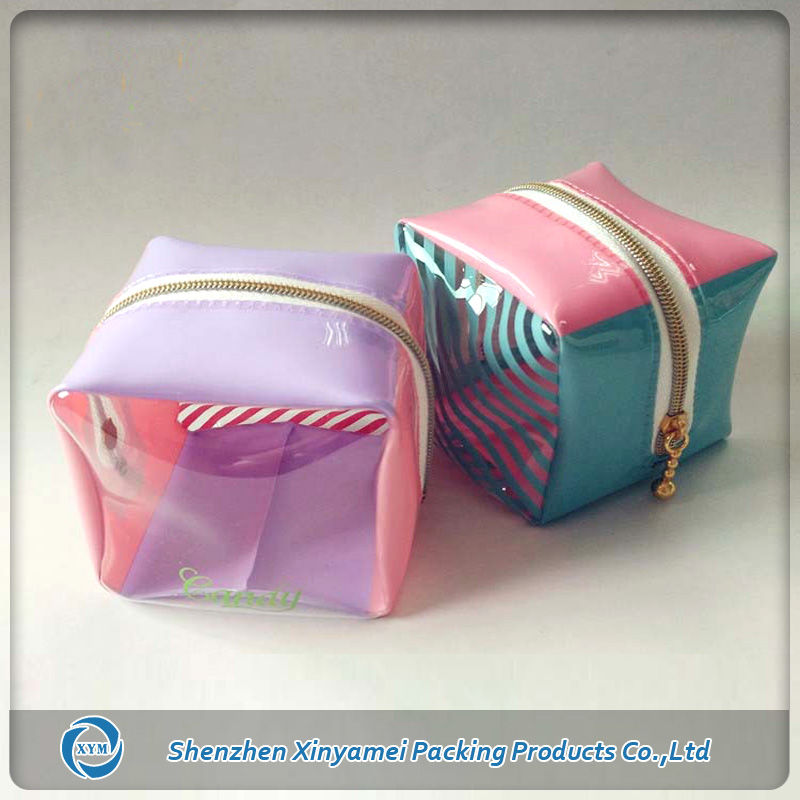 zipper pvc mini cute cosmetic bag for wholesale