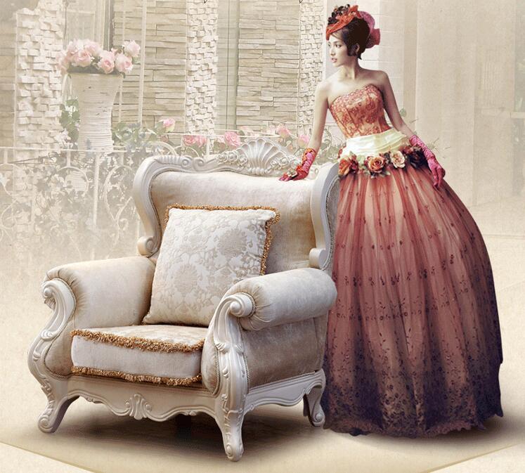 Conjunto de sofás clásicos italianos antiguos muebles de la sala ...