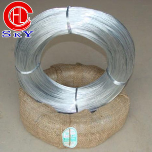 HONGLI GALVANIZED WIRE FACTORY SALES HIGH QUALITY ELECTRIC GALVANIZED WIRE ZINC COATED 5-10G/MM2/HOT DIPPED GALVANIZED WIRE 200G