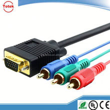 1.5M VGA to 3 RCA Component Cable For Laptop PC HD LED LCD Plasma TV Projector