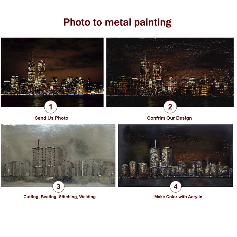 World Map 3D Metal Wall Craft for Home Decoration