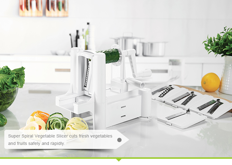 Kitchen use veggie 5-blade vegetable spiralizer for sale
