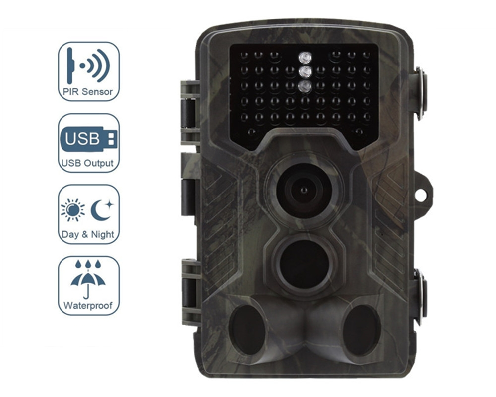 New Hunting Camera HC-800G with 3PIR 0.3s Trigger 2'LCD 16MP Ooudoor Waterproof Wildlife Trail Camera