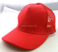 cheap wholesale mesh blank red trucker hats cheap