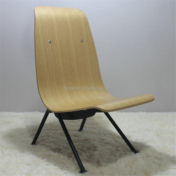 Hot Sale Jean Prouve Relax Chaise Lounge Bent Plywood Shell Longue